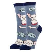 Oooh Yeah Women's Novelty Crew Socks, Dog Lover Socks, Funny Socks, Crazy Silly Socks, Cool Fashion Socks