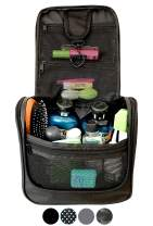 WAYFARER SUPPLY Toiletry Bag: Pack-it-flat Travel Organizer Fits Full Sized Travel Accessories, Black
