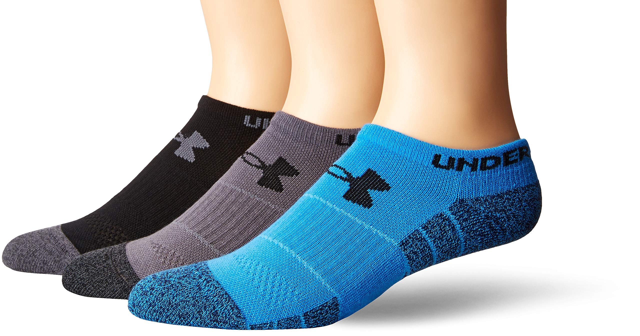 Under Armour Adult Elevated Performance No Show Socks, 3-Pairs