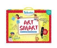 Skillmatics Educational Game: Art Smart (3-6 Years) | Learning and Activity Games | Sketching, Drawing, Creative, Art | Erasable and Reusable Mats