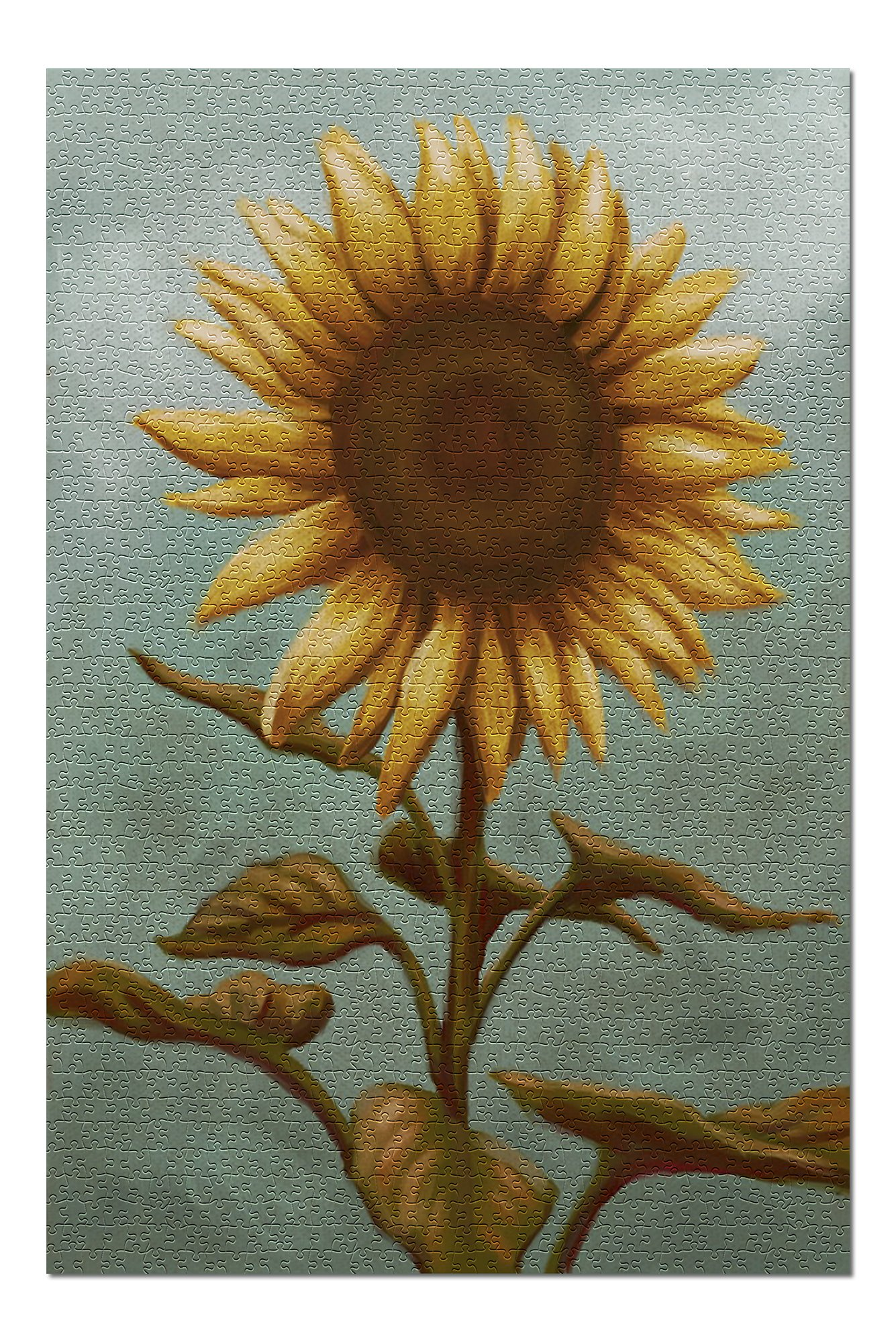 Sunflower - Oil Painting (Premium 1000 Piece Jigsaw Puzzle for Adults, 20x30, Made in USA!)