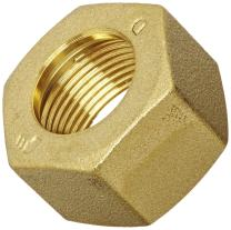Legris 0110 22 00 Brass Compression Tube Fitting, Nut, For 22 mm Tube OD x M30x1.5 Thread, 36 mm Hex Siz, 19 mm Length