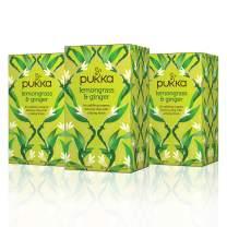 Pukka Lemongrass & Ginger, Organic Herbal Tea (20 count, pack of 3)