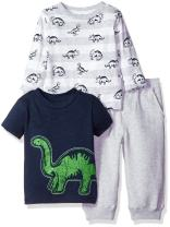 Little Me Baby Boys' 3 Piece Knit Tops and Sweatpant Set