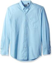 IZOD Men's Button Down Long Sleeve Stretch Performance Solid Shirt (Discontinued)
