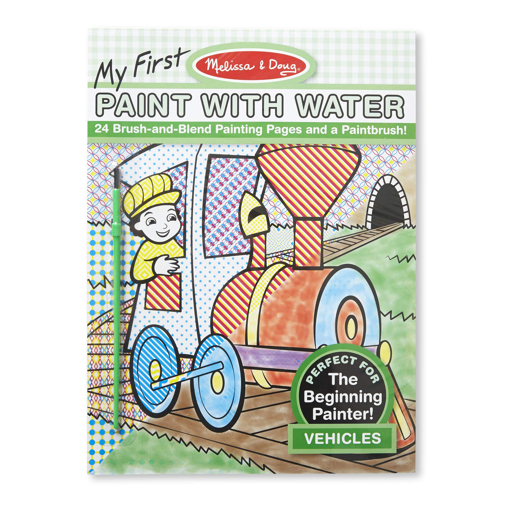Melissa & Doug My First Paint With Water Coloring Book - Vehicles (24 Painting Pages)