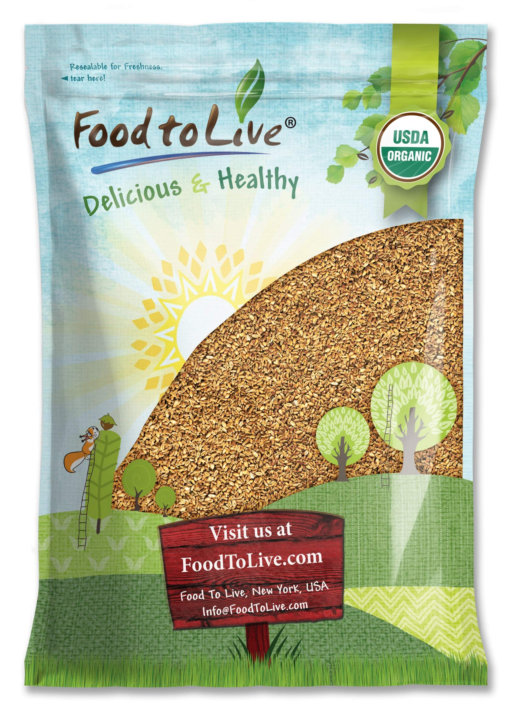 Organic Oat Groats, 5 Pounds — 100% Whole Grain, Non-GMO Seeds, Kosher, Raw, Non-Irradiated, Vegan, Sproutable, Bulk, Low Glycemic, Rich in Protein, Fiber, Copper and Manganese