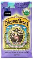 Raven's Brew Coffee Ground Organic Dharma Beans - Medium Roast –12oz Bag