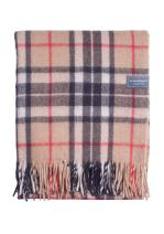 "The Tartan Blanket Co. Recycled Wool Knee Blanket Thomson Camel Tartan 28"" x 65"""