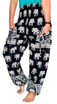JB KIARA TEXTILES Boho Pants Harem Pants Yoga Trousers for Woman Bohemian Beach Pants