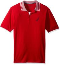 Nautica Boys' Short Sleeve Solid Deck Polo With Tipped Collar