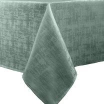 Benson Mills Jacquard Glacier Fabric Tablecloth, 52x70 inch, Azure