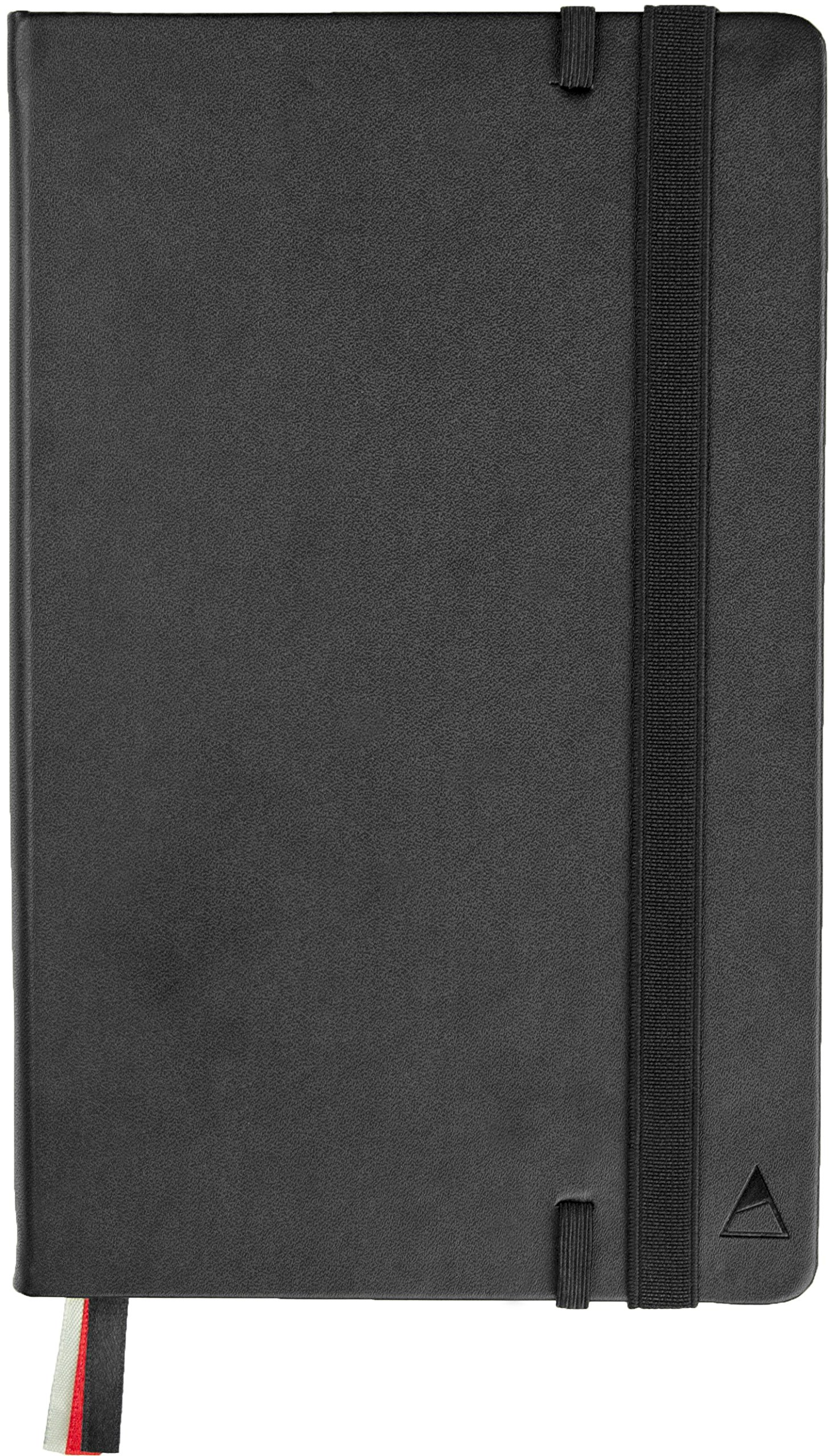 Nomatic Notebook (Black)-240 Ruled Pages, Hard Cover, Perforated Pages, Built-in Pen Holder, Whiteboard Paper