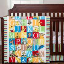 Dr. Seuss Alphabet Seuss ABC Neutral 3 Piece Baby Crib Bedding Set
