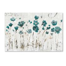 "Abstract Balance VI Blue Wall Decor by Lisa Audit, 30"" x 47"" Canvas Wall Art"