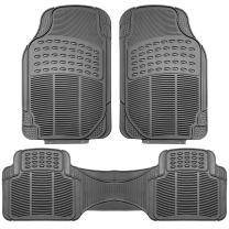 FH Group F11306 Vinyl Floor Mats (Gray) Full Set - Universal Fit for Cars Trucks and SUVs