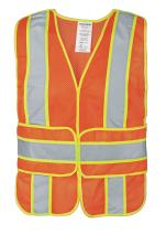 """Ironwear 1290FR-O-1-MD-XL ANSI Class 2 Flame Retardant Polyester Mesh Chevron SAFETY Vest with 2"""" Silver Reflective Tape Over Lime, Orange, Medium/X-Large"""