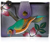Anna by Anuschka Genuine Leather Ladies Wallet   Hand-Painted Original Artwork