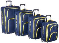 Rockland Polo Equipment Varsity Softside Upright Luggage Set, Navy, 4-Piece (18/22/26/30)