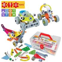 ETI Toys STEM Learning, 163 Piece Lil Engineers Build&Play 3 Vehicle Building Blocks. BPA-Safe, Lead-Safe & Phthalates-Safe, Creative Skills Development. Gift, Toy for 8, 9, 10 Year Old Boys and Girls