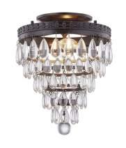 WISBEAM Crystal Ceiling Light, K9 Crystal Flush Mount, E12 Base 2 Light, Bulb not Included