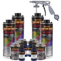 Custom Coat Federal Standard Color # 35048 Navy Blue Urethane Spray-On Truck Bed Liner, 1 Gallon Kit with Spray Gun and Regulator - Durable Textured Protective Coating - Easy Mix Car Auto