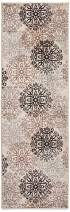 """Superior Elegant Leigh Collection Area Rug, 8mm Pile Height with Jute Backing, Chic Contemporary Floral Medallion Pattern, Anti-Static, Water-Repellent Rugs - Beige, 2'7"""" x 8' Runner"""