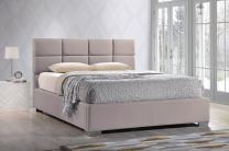 Baxton Studio Sophie Modern & Contemporary Linen Upholstered Platform Bed, Queen, Beige