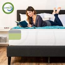 Best Choice Products 12in Queen Size 2-Layer Medium-Firm Bamboo Charcoal Gel & Green Tea Infused Memory Foam Mattress