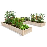 "Greenes Fence Original Pine Raised Garden Bed, 8' x 8' x 10.5"" U-Shaped Bed"