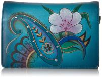 Anna by Anuschka Women's Handpainted Leather Two Fold Wallet on a String