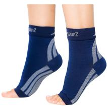 CompressionZ Plantar Fasciitis Socks - Compression Foot Sleeves - Ankle Brace Arch Support - Pain Relief for Heel Spurs, Edema, Achilles Tendonitis