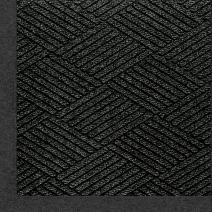 "M+A Matting 2297 Waterhog Eco Premier Fashion PET Polyester Fiber Indoor/Outdoor Floor Mat, SBR Rubber Backing, 3' Length x 2' Width, 3/8"" Thick, Black Smoke"