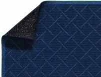 "M+A Matting 2202 Enviro Plus PET Polyester Fiber Diamond Weave Interior/Wiper Floor Mat, Crumb Rubber Backing, 8' Length x 3' Width, 1/4"" Thick, Indigo"