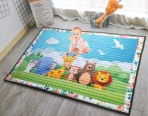 Moiré Baby 3D Paper Craft Animal Learning Play Mat Extra Large 76 in. x 58 Padded Crawling Carpet for Babies (3D Paper Craft Animal)