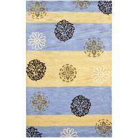 Safavieh Soho Collection SOH777B Handmade Gold and Blue Premium Wool Area Rug (5' x 8')