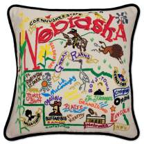 Catstudio Nebraska Embroidered Decorative Throw Pillow | Beautiful Award Winning Home Decor Artwork | Great for The Living, Family, Bed Rooms