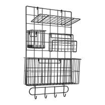 Amazon Basics Wall Wire Grid Panel, 6-Piece Set, Black