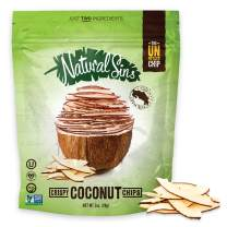 Natural Sins Crispy Coconut Chips, 1 Ounce Bag (6 pack), Lightly Sweetened Coconut Chips, Vegan, Salt- Oil- Gluten-Free, Paleo-Friendly, Snack Food, Dried Coconut Chips