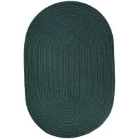 Super Area Rugs Maui Braided Rug Indoor Outdoor Rug Washable Reversible Green Patio Porch Kitchen Carpet, 2' X 3' Oval