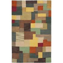 Safavieh Soho Collection SOH923A Handmade Modern Abstract Multicolored Premium Wool Area Rug (5' x 8')