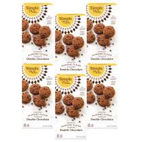 Simple Mills Almond Flour Double Chocolate Chip Cookies, Gluten Free and Delicious Crunchy Cookies, Organic Coconut Oil, Good for Snacks, Made with whole foods, 6 Count (Packaging May Vary)