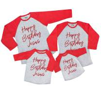 7 ate 9 Apparel Matching Family Christmas Shirts - Happy Birthday Jesus Red Shirt