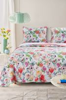 Barefoot Bungalow Blossom Quilt Set, King, Multi