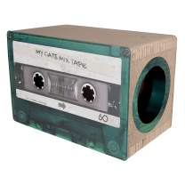 District 70 Mixtape Cardboard Cat Scratcher, Large (54 x 31 x 35 cm), Emerald