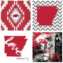 Thirstystone 4-Piece University of Arkansas Spirit A/4 Coaster Set