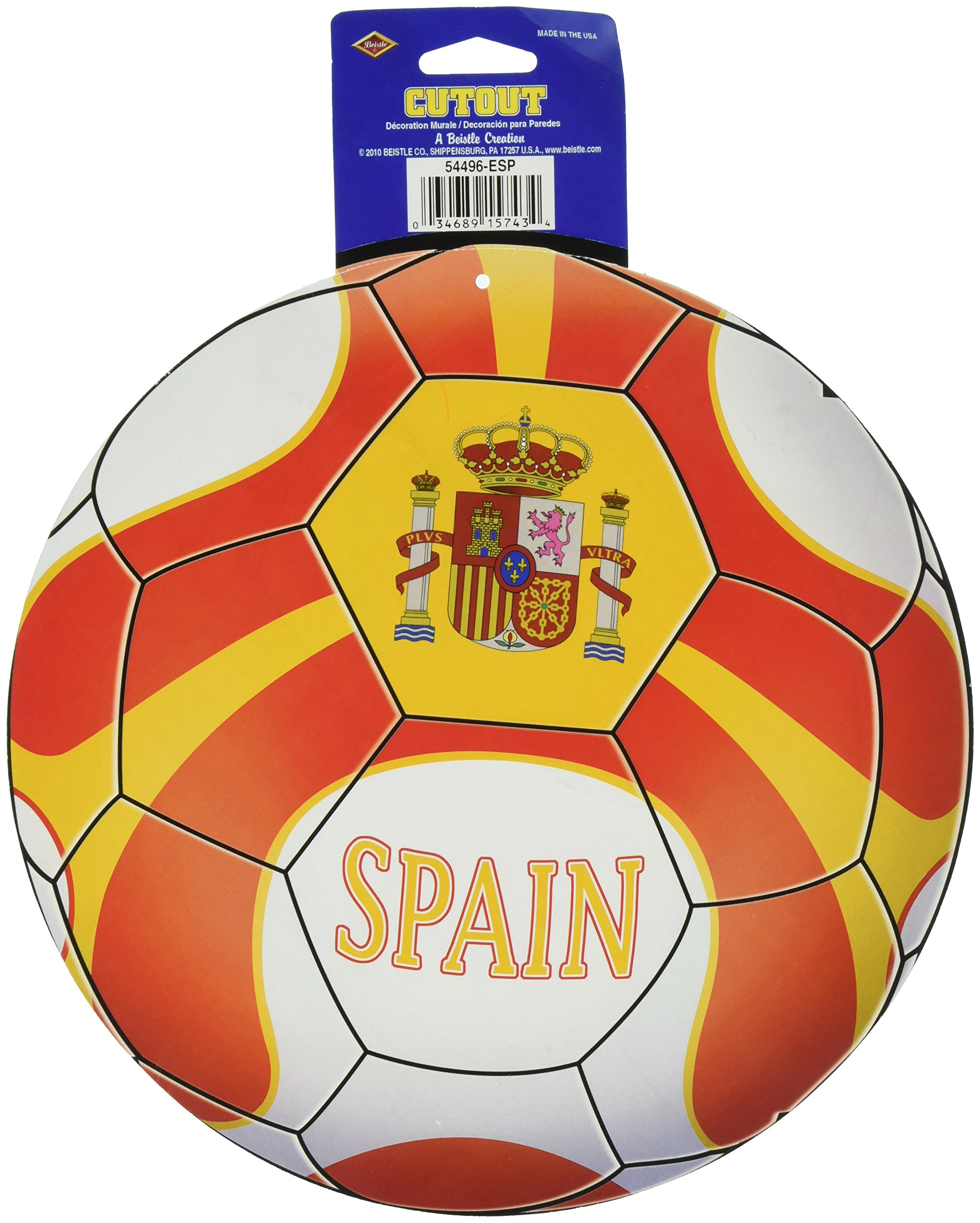 Beistle Cutout, 10-Inch, Spain