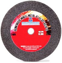 Mercer Abrasives 614160-50 Small Diameter High Speed Fully Reinforced Cut-Off Wheels 4-Inch by 1/16-Inch by 5/8-Inch C, 50-Pack