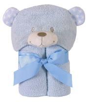 Stephan Baby Terry Plush Hooded Bath Towel, Blue Bear, 0-24 Months