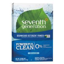 Seventh Generation Dishwasher Detergent Powder, Free & Clear, 75 oz